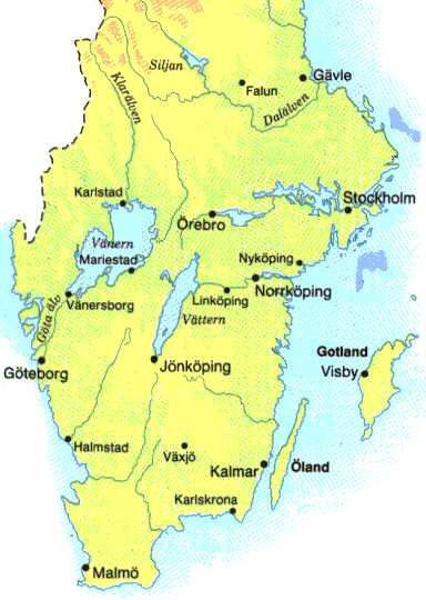 södra sverige karta Karta över södra Sverige södra sverige karta